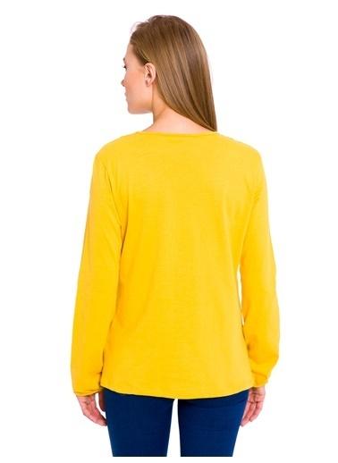 LC Waikiki Yakası Bağlamalı Bluz Sarı